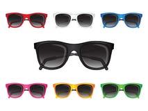 Set Sonnenbrillen Stockfoto