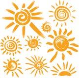Set Sonnesymbole stock abbildung