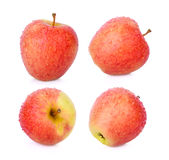 Set of sonya apple with drop of water on white background Stock Images