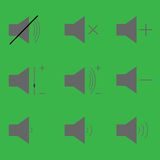 Set sound icons Stock Photos