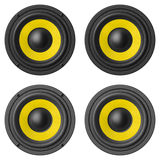 Set of sound speakers isolated on white background Royalty Free Stock Image