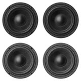 Set of sound speakers isolated on white background Stock Photos