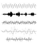 Set of Sound Wave. Vector Illustration Stock Image