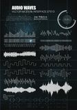 Set sound waves. Audio equalizer technology, pulse musical. Vector illustration Blurry soft creative. Music waves icons. vector illustration