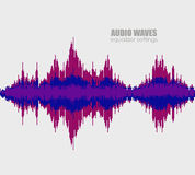 Set sound waves . Audio technology, pulse musical. Cover for the album or music track. Vector illustration eps10 vector illustration