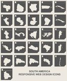 Set of South America map buttons Royalty Free Stock Photography