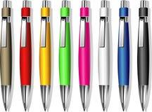 Set of souvenir pens Stock Images