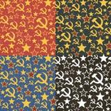 Set of Soviet Union seamless patterns. Stock Image