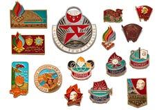 Set sowieci - zrzeszeniowe rocznik odznaki Obraz Stock