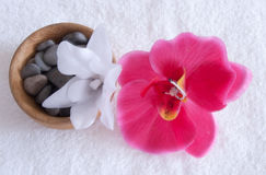 A set of spa. Orchid and the stones Stock Image