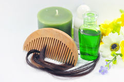 Set of hair SPA   Royalty Free Stock Photo