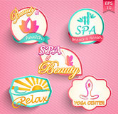 Set of spa and beauty Royalty Free Stock Photography