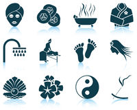 Set of spa icons Stock Photography