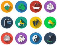 Set of spa icons Stock Image