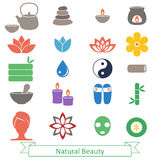 Set of spa icons. Stock Photos
