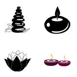 Set of spa icons Royalty Free Stock Photos