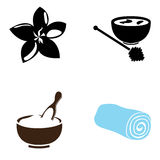 Set of spa icons Royalty Free Stock Images