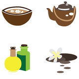 Set of spa icons Royalty Free Stock Image