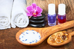 Set of spa items Stock Images