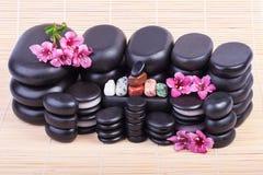 Set of spa stones Stock Photos