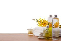 Set of spa treatment Stock Photo
