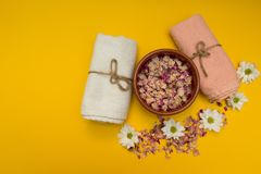 Set for spa treatments. concept royalty free stock images