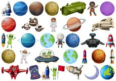 Set of space element. Illustration royalty free illustration