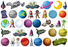 Set of space element. Illustration stock illustration