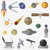 Set of space elements. stock illustration