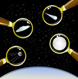Set of space objects . EPS10  illustration. Stock Photography