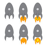 Set with space ships Stock Image