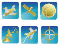 Set of space signs Stock Photos