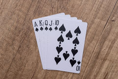 Set of Spade suit playing cards Royalty Free Stock Photography