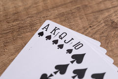 Set of Spade suit playing cards Stock Photo