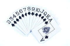 Set of Spades Stock Photography