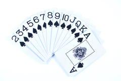 Set of Spades stock photography