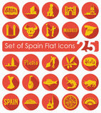 Set of Spain icons Stock Photos
