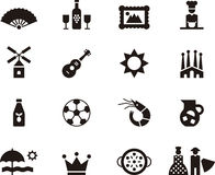 Set of Spain related web icons Royalty Free Stock Photography