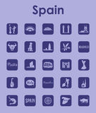 Set of Spain simple icons Stock Photo