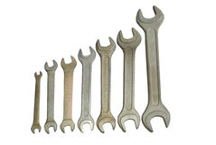 Set of spanner wrenches Stock Photography
