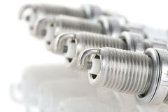Set of spark plugs Royalty Free Stock Photography