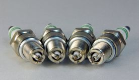 Set of spark plugs Royalty Free Stock Image