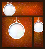 Set of sparkle christmas banners. Stock Images