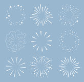 Set of Sparkles and Bursts. Minimal design. Geometric Shapes , Light Ray Collection Stock Image