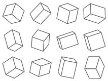 Set of spatial boxes. Royalty Free Stock Images
