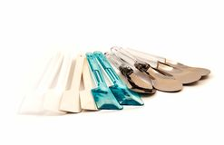 Set of spatula kitchen ware tool Royalty Free Stock Photography