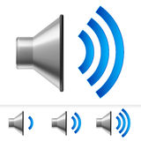 Set of speaker icons Royalty Free Stock Photos