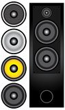 Set of Speakers. Set of different Speakers isolated on white - illustration / Vector royalty free illustration