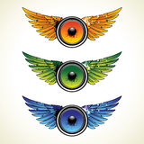 Set of speakers with wings royalty free illustration