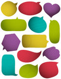 Set of special colour bright bubble with knitwear texture Royalty Free Stock Photography